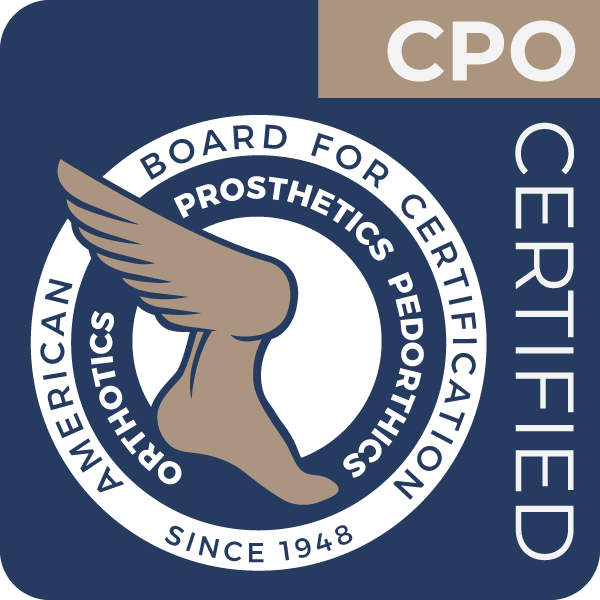 Certified Prosthetist-Orthotist issued by ABC to Kevin A. Wicker
